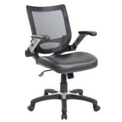 Scaun de birou ergonomic, Atelier Niwa, piele ecologica si mesh, gri