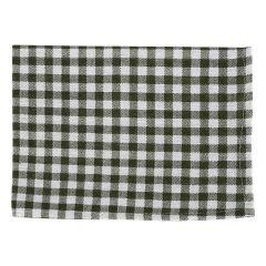 Prosop de bucatarie, bumbac, 30 x 40 cm, alb cu dungi verzi