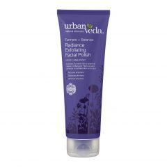 Exfoliant pentru curatare faciala cu extract de turmeric organic - ten uscat  Radiance - Urban Veda  125 ml