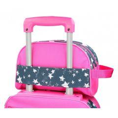 Borseta adaptabila 26 cm Roll Road Dream Pink