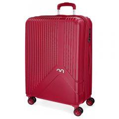 Troler ABS 67 cm 4 roti Movom Trendy rosu