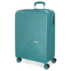 Troler ABS 67 cm 4 roti Movom Trendy albastru