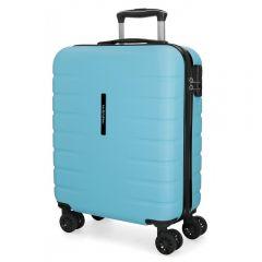 Troler ABS 55 cm  4 roti Movom Turbo albastru deschis