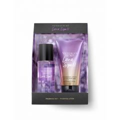 Set cadou victoria secret, love spell gift set, spray corp 75 ml + body lotion 75 ml