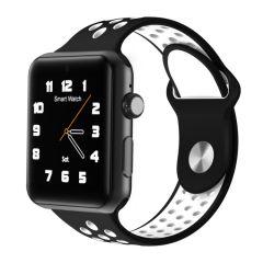 Ceas Smartwatch cu telefon, ceas, 128MB + 64MB, curea de ceas din silicon, Bluetooth 4.0, retea 2G, suport pedometru, negru