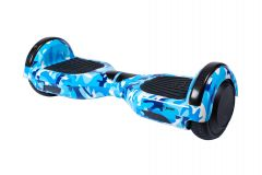 Hoverboard Smart Balance™ Premium Brand, Regular Camouflage Blue, roti 6,5 inch Bluetooth, baterie Samsung, Boxe incorporate, AutoBalans, geanta de transport, putere 1000W, led-uri, autonomie 15 km