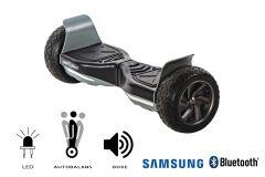 Hoverboard Hummer, Smart Balance, roti 8,5 inch Bluetooth, baterie Samsung, Boxe incorporate, AutoBalans, Geanta de transport, putere 700W, led-uri, lumini de zi/noapte, autonomie 15 km