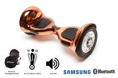 Hoverboard, Smart Balance, Off Road Iron, roti 10 inch Bluetooth, baterie Samsung, Boxe incorporate, AutoBalans, Geanta de transport, putere 700W, led-uri, lumini de zi/noapte, autonomie 15 km