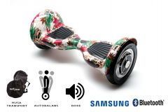 Hoverboard, Smart Balance, Off Road Skull Color, roti 10 inch Bluetooth, baterie Samsung, Boxe incorporate, AutoBalans, Geanta de transport, putere 700W, led-uri, lumini de zi/noapte, autonomie 15 km