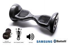 Hoverboard, Smart Balance, Off Road Carbon, roti 10 inch Bluetooth, baterie Samsung, Boxe incorporate, AutoBalans, Geanta de transport, putere 700W, led-uri, lumini de zi/noapte, autonomie 15 km