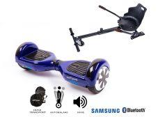 PACHET PROMO Smart Balance: Hoverboard Regular Violet + Hoverseat, roti 6.5 inch Bluetooth, baterie Samsung, Boxe incorporate, AutoBalans, Geanta de transport, putere 700W, led-uri, lumini de zi/noapte, autonomie 15 km