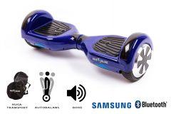 Hoverboard Smart Balance, Regular Violet, roti 6,5 inch Bluetooth, baterie Samsung, Boxe incorporate, AutoBalans, Geanta de transport, putere 700W, led-uri, lumini de zi/noapte, autonomie 15 km