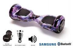 Hoverboard Smart Balance, Regular Galaxy, roti 6,5 inch Bluetooth, baterie Samsung, Boxe incorporate, AutoBalans, Geanta de transport, putere 700W, led-uri, lumini de zi/noapte, autonomie 15 km