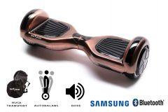 Hoverboard Smart Balance, Regular Iron, roti 6,5 inch Bluetooth, baterie Samsung, Boxe incorporate, AutoBalans, Geanta de transport, putere 1000W, led-uri, lumini de zi/noapte, autonomie 15 km