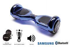 Hoverboard Smart Balance, Regular ElectroBlue, roti 6,5 inch Bluetooth, baterie Samsung, Boxe incorporate, AutoBalans, geanta de transport, putere 1000W, led-uri, lumini de zi/noapte, autonomie 15 km