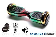 Hoverboard Smart Balance, Regular California, roti 6,5 inch Bluetooth, baterie Samsung, Boxe incorporate, AutoBalans, Geanta de transport, putere 700W, led-uri, lumini de zi/noapte, autonomie 15 km