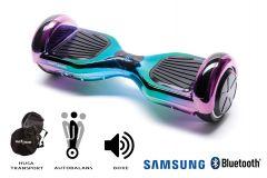 Hoverboard Smart Balance, Regular Dakota, roti 6,5 inch Bluetooth, baterie Samsung, Boxe incorporate, AutoBalans, Geanta de transport, putere 700W, led-uri, lumini de zi/noapte, autonomie 15 km