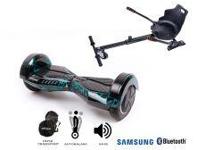 PACHET PROMO Smart Balance: Hoverboard Transformers Thunderstorm + Hoverseat, roti 8 inch Bluetooth, baterie Samsung, Boxe incorporate, AutoBalans, Geanta de transport, putere 700W, led-uri, lumini de zi/noapte, autonomie 15 km