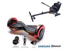 PACHET PROMO Smart Balance: Hoverboard Transformers Sunset + Hoverseat, roti 8 inch Bluetooth, baterie Samsung, Boxe incorporate, AutoBalans, Geanta de transport, putere 700W, led-uri, lumini de zi/noapte, autonomie 15 km