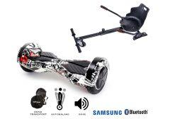 PACHET PROMO Smart Balance: Hoverboard Transformers Last Dead + Hoverseat, roti 8 inch Bluetooth, baterie Samsung, Boxe incorporate, AutoBalans, Geanta de transport, putere 700W, led-uri, lumini de zi/noapte, autonomie 15 km