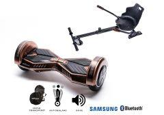 PACHET PROMO Smart Balance: Hoverboard Transformers Iron + Hoverseat, roti 8 inch Bluetooth, baterie Samsung, Boxe incorporate, AutoBalans, Geanta de transport, putere 700W, led-uri, lumini de zi/noapte, autonomie 15 km