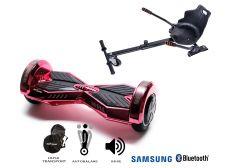 PACHET PROMO Smart Balance: Hoverboard Transformers ElectroPink + Hoverseat, roti 8 inch Bluetooth, baterie Samsung, Boxe incorporate, AutoBalans, Geanta de transport, putere 700W, led-uri, lumini de zi/noapte, autonomie 15 km