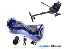 PACHET PROMO Smart Balance: Hoverboard Transformers ElectroBlue + Hoverseat, roti 8 inch Bluetooth, baterie Samsung, Boxe incorporate, AutoBalans, Geanta de transport, putere 700W, led-uri, lumini de zi/noapte, autonomie 15 km