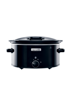 Slow Cooker Crock-Pot CSC031X-DIM, 5.7 L Manual, cu capac retractabil, 2 setari de gatit, Negru
