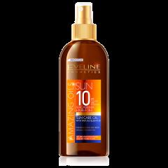 Ulei de plaja, Eveline Cosmetics, SPF 10, UVA+UVB, rezistent la apa, 150 ml