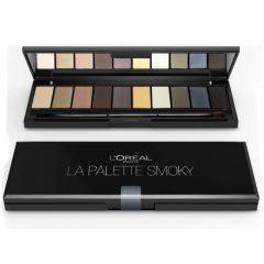 Paleta Fard L'Oréal Paris Color Riche La Palette Smoky, 10 nuante, 7 g