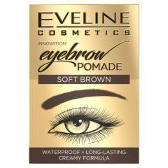 Crema pentru sprancene, Eveline Cosmetics, Soft Brown, Waterproof