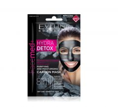 Masca de fata, Eveline Cosmetics, Hydra DETOX 8in1, 10 ml