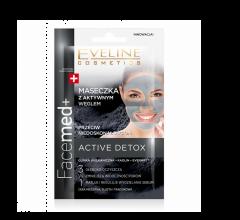 Masca de fata Eveline Cosmetics, Facemed, cu carbon activ , 10 ml