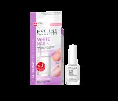 Tratament pentru unghii, Eveline Cosmetics, White Nails, Conditioner & Baza, 12 ml