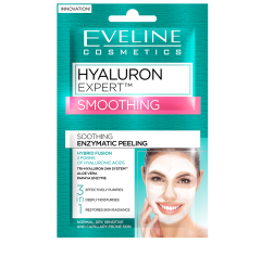 Masca de fata, Eveline Cosmetics, Peeling Hyaluron Expert 3in1 pentru calmare, 10 ml
