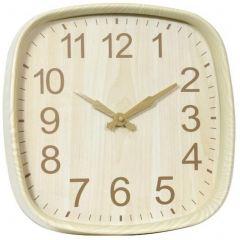 Ceas pentru perete imitatie lemn ,Forma  Patrat ,Grunberg ,KLJ3032, BEJ ,   30.5 x 30.5 x 4 cm