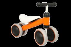 Tricicleta portocalie cu 4 roti din spuma EVA , cadru metalic , MICMAX , JP11