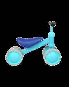 Tricicleta Albastra  cu 4 roti din spuma EVA , cadru metalic , MICMAX , JP11