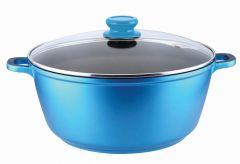 Cratita Aluminiu turnat cu capac sticla - 40 x 20 cm GRUNBERG GR1640 Albastru/Mov