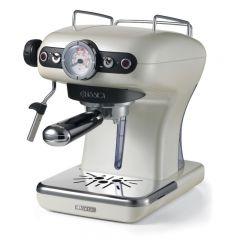 Espressor manual Ariete Classic, 1389 Perla, Sistem cappuccino, 15 Bar