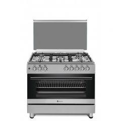 Aragaz mixt Studio Casa, FE90 60 Multifunctional, Cuptor electric, 5 arzatoare gaz, 90 x 60 cm, Grill electric, Rotisor, 2 ventilatoare, Aprindere electrica, Inox