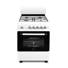 Aragaz FG60/60 BIANCO , Nuova Cucina cuptor gaz, rotisor, 4 arzatoare gaz, grill, timer, Alb
