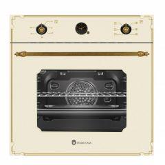 Cuptor electric rustic Studio Casa, FE660 Parma Glass Beige, 6 functii, Sticla crem