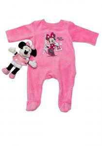 Salopetă noapte bebe 3/36 luni + pluș Minnie