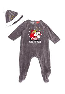 Salopetă + căciulă  bebe Mickey 3/36 luni
