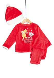 Pijama și căciulă bebe  Winnie 3/36 luni