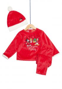 Pijama și căciulă bebe Mickey & Donald 3/36 luni