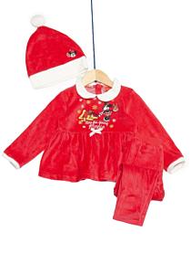 Pijama și căciulă bebe Minnie  3/36 luni