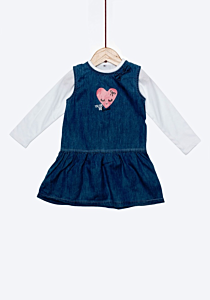 Set denim bebe 6/36 luni