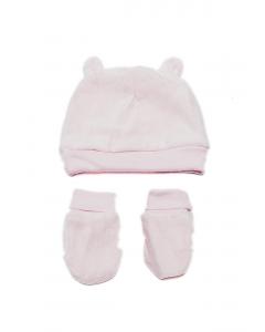 Set căciulă și mânuși bebe 0/6 luni